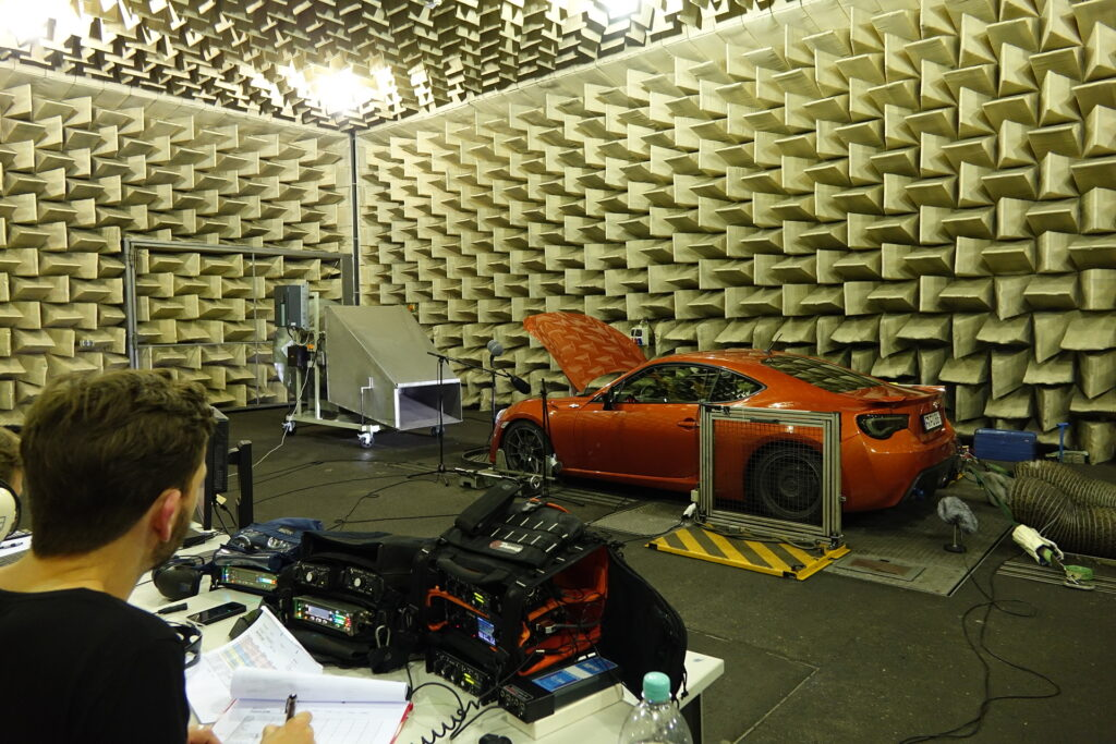 Dynamedion anechoic room car recordings with TPR 1