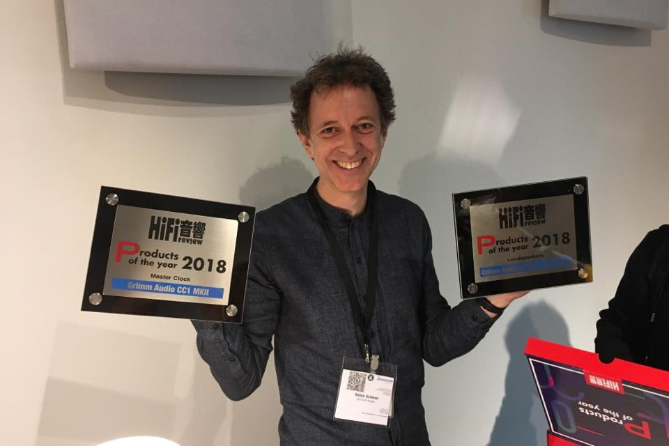 Eelco Grimm with Hifi Review Product of the Year awards