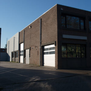 The exterior of our factory at the Egelstraat in Eindhoven.