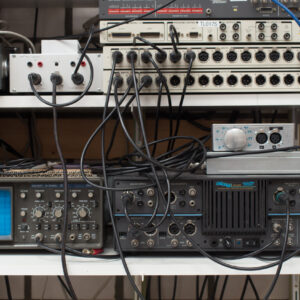 This Audio Precision setup is used in production.