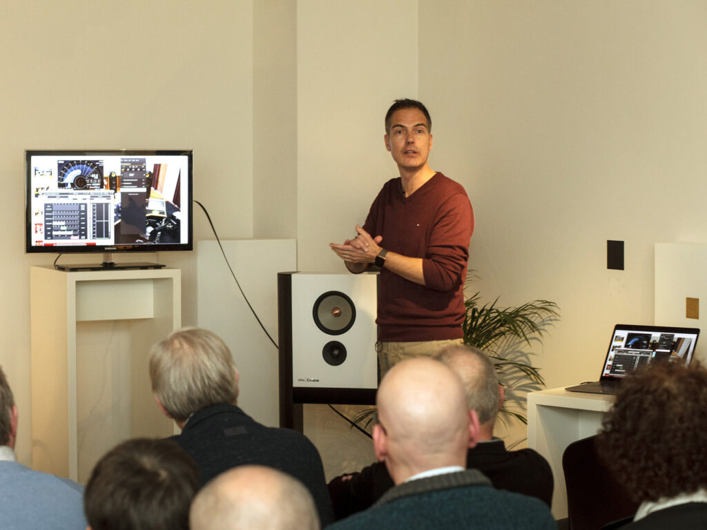 Sander van der Heide at Chattelin Audio Systems