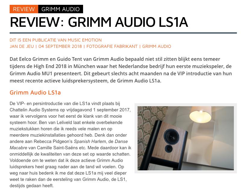Hifi.nl LS1a review