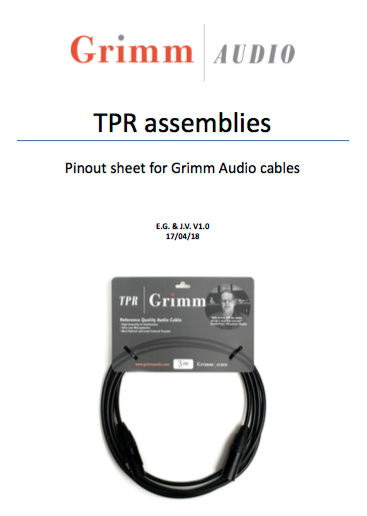 TPR Assemblies pinout document