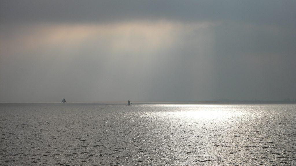 A view on the IJsselmeer lake from Hoorn
